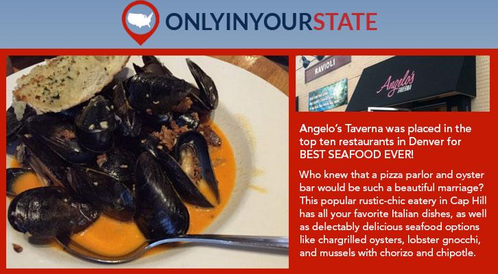 Best Seafood Ever Angelo S Taverna Denver